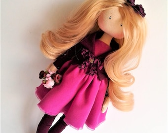 Tilda doll. Art doll. Rag doll. Fabric doll. Textile doll.Handmade doll. Doll for interior. Doll. Dolls ElenShudra. Textile toy. Toys.