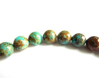 Pearl Ø 8mm chrysocolla globe PF080 L unit gem stone color semi precious