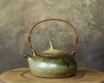 Smokey Ceramic Tea Pot Stoneware Teapot
