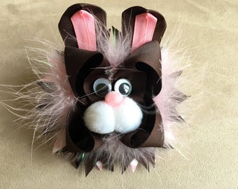 Easter Bunny OTT Over the Top Boutique Hair Bow