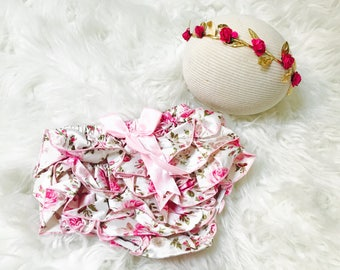floral diaper coverup,floral ruffle bloomers,shabby chic diaper cover up,new born baby bloomers, baby bloomers,floral baby bloomers,bloomers