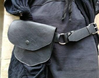 Designer Belt Bag, Waist Pack, Hip Bag Leather, Waist Bag, Leather Belt Bag, Leather Waist Bag, Leather Pouch, Leather Pouch Bag, Black belt