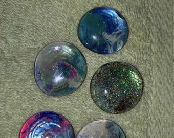 Glass magnets set of 5.