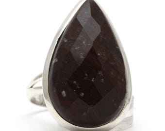 Bronzite Ring, 925 Sterling Silver, Unique only 1 piece available! SIZE 8.25 (inner diameter 18.33mm), color brown, weight 7.8g, #36034
