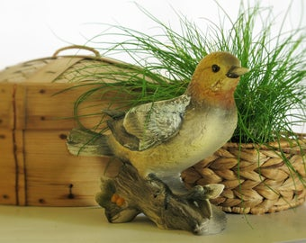 Bird Planter French Country Rustic Woodland Decor