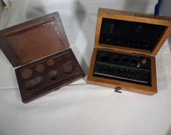 Weights-brass with original boxes