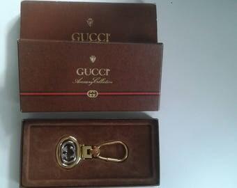 Sale ! Vintage Gucci keyholder / keychain / key ring