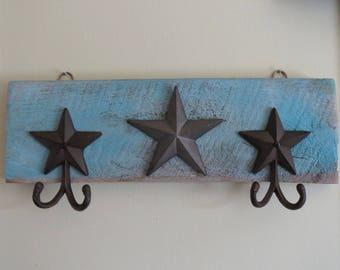 Rustic Star Coat Rack