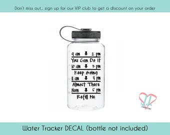 Water Bottle Sticker - Several Colors - Water Bottle Decal - Decal for Water Bottle - Water Reminder Sticker - Water Intake Decal