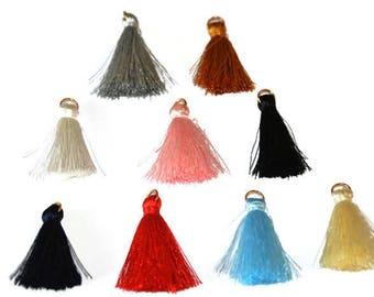 9 charms tassel 3cm cotton blend