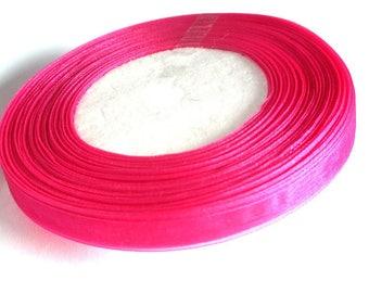 1 reel of 45 m 10mm fuchsia organza Ribbon
