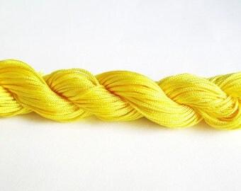 25 m wire braided yellow nylon 1 mm
