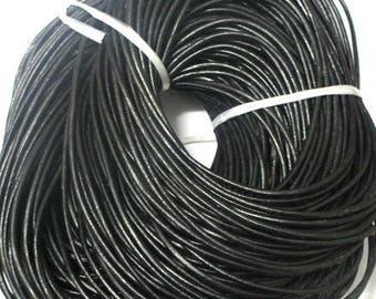 1 meter 3mm black leather cord