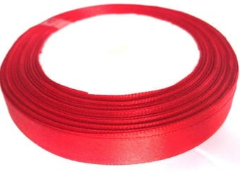 1 reel 23 m 12mm red colored satin ribbon