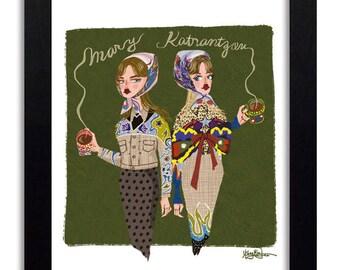 Mary Katrantzou - Fashion Illustration Print Fashion Print Fashion Art Fashion Wall Art Fashion Poster Fashion Sketch Art Print
