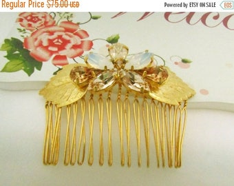 Bridal Crystal Hair comb, 24k Gold Head Piece, Swarovski Hair comb, Bridal hair accessories, Crystal hairpiece, Bridal Hair comb,