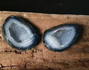 Blue Bear Tabasco Geode Pair #250A