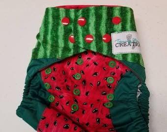 OS Watermelon cloth diaper