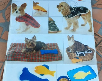 Butterick B4266 4266 377 Sewing Pattern Pet Accessory Package Dog Cats Coats Placemats Stockings  Bed  One Size All Sizes XS S M L New Uncut