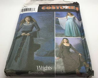 Simplicity 9891 0523   Sewing Pattern Renaissance Medieval Wedding Reenacting Coat Theater Play Women Cosplay Size 6 8 10 12