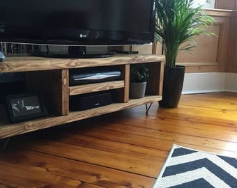 New Pine TV Cabinet with Hairpin Legs