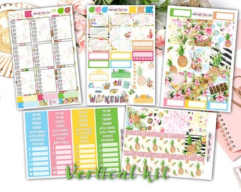NEW FORMAT || Aloha weekly kits planner stickers || Erin Condren planner vertical layout