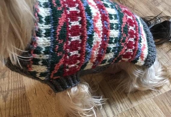 Fair Isle Dog Sweater-PDF Knitting Pattern