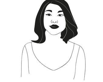 Line Art Portrait