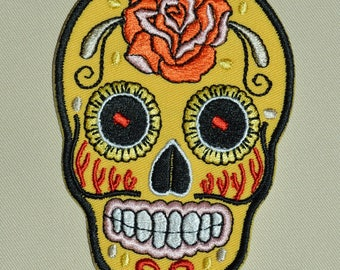embroidered with skull yellow