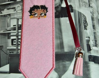 Bookmark felt rose with betty boop