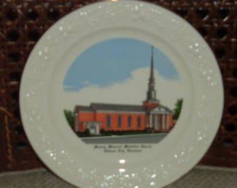 Johnson City, Tennessee~Munsey Memerial Methodist Church Plate- 1950S Commerative Church Plate