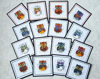 "Set of Harry Potter Themed 3X3"" Note Cards 