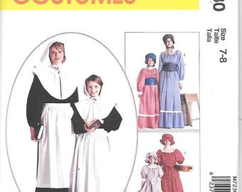 Misses Colonial Costumes, Sizes 16 Thru 18, New McCalls Pattern 7230