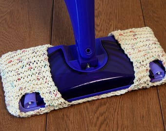 Set of Two Reusable Knitted Swiffer Covers!  Swiffer pad - replacement pad for swiffer wetjet