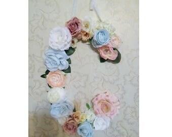 Floral Letters C/ flower letter boho/ wall letter Floral / Flower letter girl/ Baby shower flower / wall flower hanging/ wall flower letter