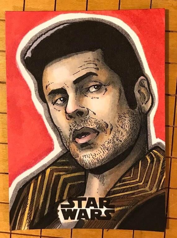 Last Jedi Original Artist Sketch Card: DJ