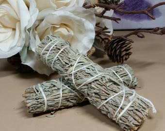 Blue Sage Sticks - Energy Balancing and Clearing - Purifying - Relaxing - Ceremonial Smudge - Meditation Support - Reiki Tools