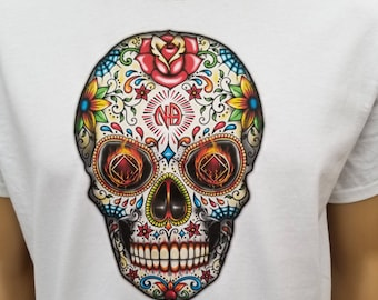 NA - SUGAR SKULL 1 - T-shirt - S-4X  - 100% cotton.  Free Shipping