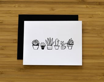 Succulent Greeting Card, Plant Lover Card, Everyday Card