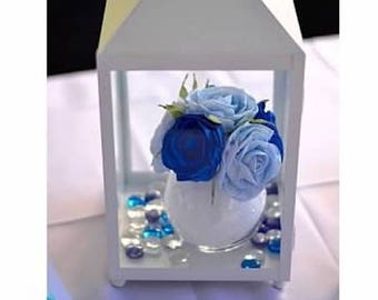crepe paper flowers blue Table Centerpiece bouquet under sea Wedding decor bridal blue baby shower boy Prince party birthday baptism sea