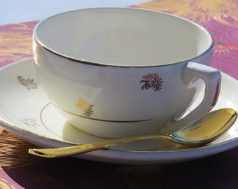 Gold & Cream coffee cup set