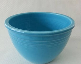 20% OFF SALE - Vintage Turquoise Fiesta Mixing Bowl #4 Fiestaware, Homer Laughlin