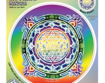 A123 - Sri Yantra Mandala by Jon Berk Window Sticker