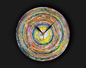 Rainbow Clock Etsy