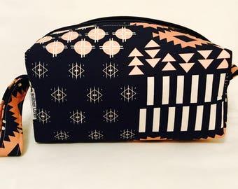 Tribal Vibes Cosmetic Bag, Makeup Bag, Travel Bag, Box Pouch