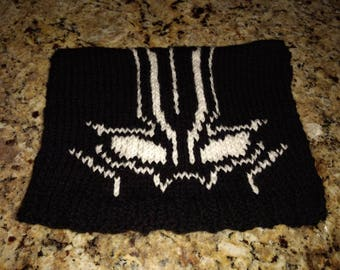 Knitted Black Panther Hat