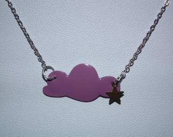 """""""Head in clouds"""" necklace purple"""