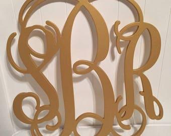 Painted Wooden Monogram - Wooden Monogram Wall Hanging