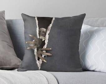 Spooky Decor   Scary Halloween Decor   Halloween Decorations   Creepy Decor   Creepy Pillow   Halloween Pillow   Spooky Pillow