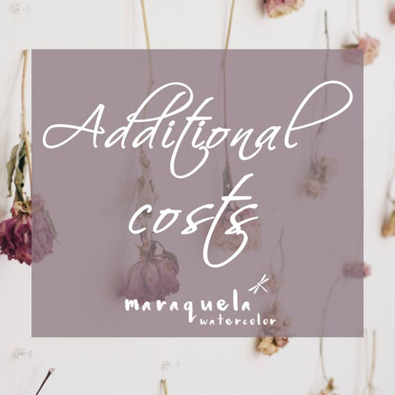 Additional Costs related to other purchases from Maraquela Shop - Costes Adicionales - Maraquela Watercolor